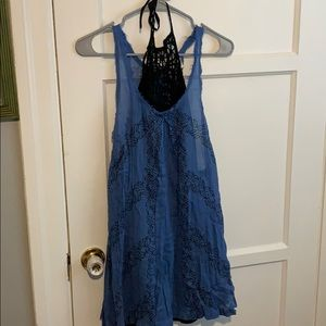 Free people dress with high neck slip